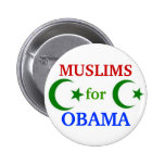Muslims for Obama 2012 button