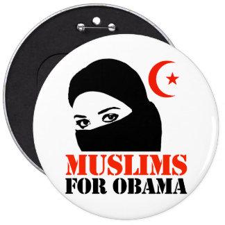 Muslims for Obama 6 Cm Round Badge