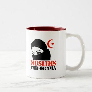 Muslims for Obama Two-Tone Coffee Mug