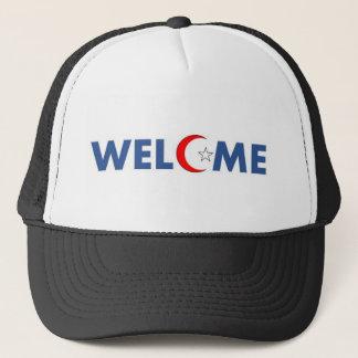 Muslims welcome here trucker hat