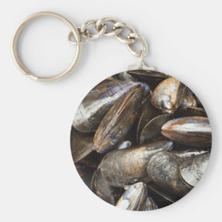 Mussels Basic Round Button Key Ring
