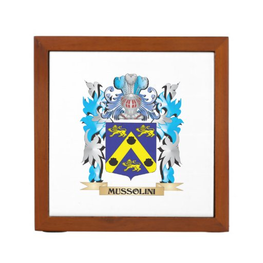 Mussolini Coat of Arms - Family Crest Desk Organizers