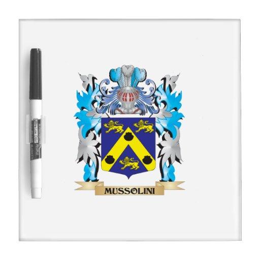 Mussolini Coat of Arms - Family Crest Dry-Erase Whiteboard