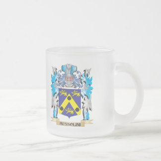 Mussolini Coat of Arms - Family Crest Frosted Glass Mug
