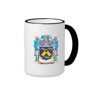 Mussolini Coat of Arms - Family Crest Ringer Mug