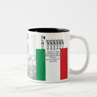 Mussolini Duce Lotta Studentesca Two-Tone Coffee Mug