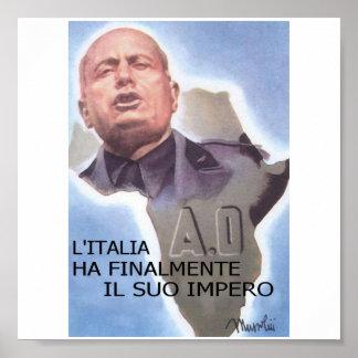 Mussolini Italian East Africa Poster