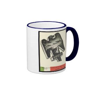 Mussolini Propaganda Ringer Mug
