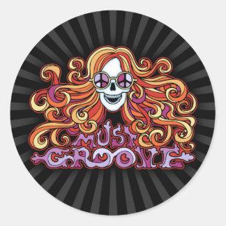 Must Groove Round Sticker