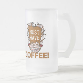 Must Have Coffee Frosted Glass Beer Mug