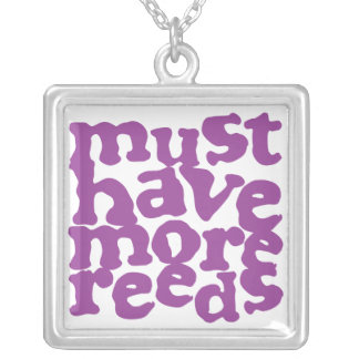 Must Have More Reeds Square Pendant Necklace