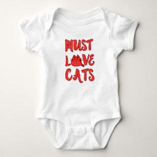 Must Love Cats Baby Romper Baby Bodysuit