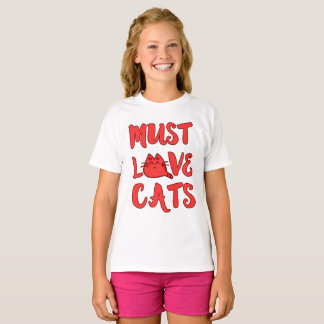 Must Love Cats Girls Shirt