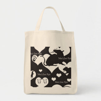 Must. Love. Rats Black and White Tote