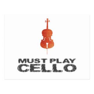 Must Play Cello Postcard