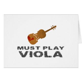 Must Play Viola Greeting Card