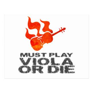 Must Play Viola or Die Postcard
