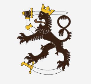 Musta suomenleijona t-paita T-Shirt a645510062