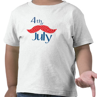 Mustache 4th of July T-shirt