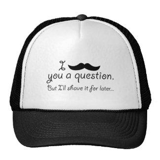 Mustache A Question Cap