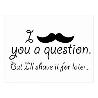 Mustache A Question Postcard