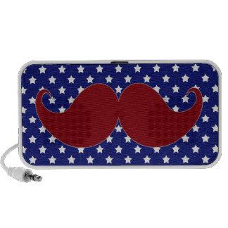 Mustache Americana Stars, Red White Blue Speaker System