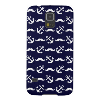 Mustache and anchor pattern galaxy s5 cover