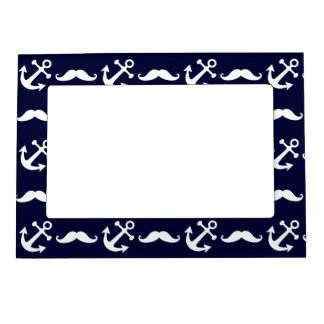 Mustache and anchor pattern magnetic frame