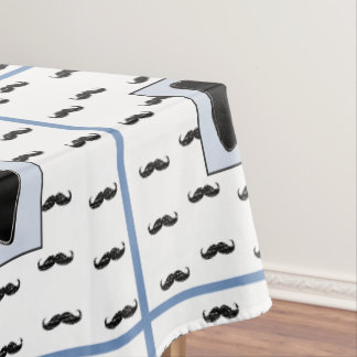 Mustache and Bow Tie Table Cloth Tablecloth