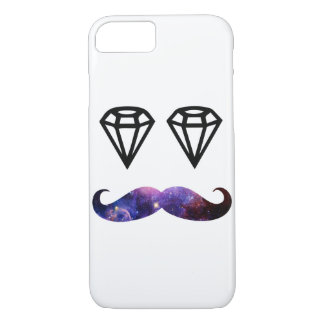 Mustache and diamonds iPhone 8/7 case