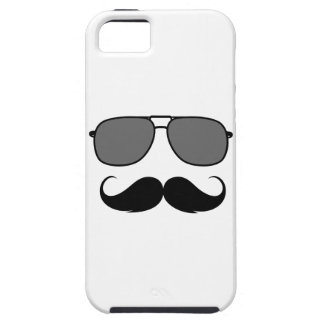 mustache and glasses tough iPhone 5 case
