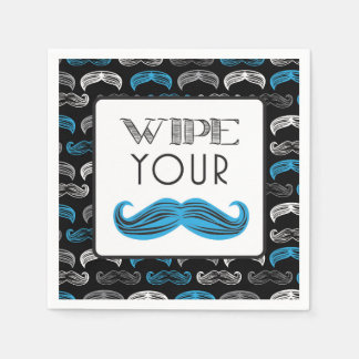 Mustache Bash - Little Man - Napkins Disposable Serviette