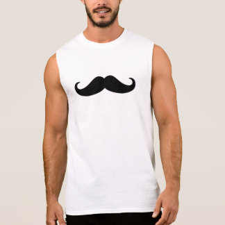 Mustache Beard Sleeveless Shirt