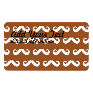 Mustache Brown White Pack Of Standard Business Cards