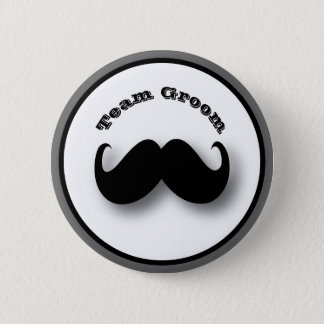 Mustache Button - Team Groom