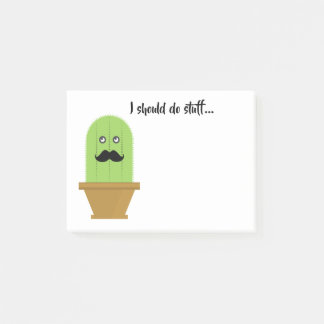 Mustache Cactus Sticky Notes