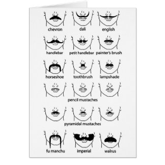 Mustache Chart Father's Day Card