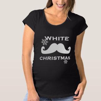Mustache Christmas Maternity T-Shirt
