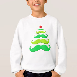 Mustache Christmas Tree Apparel Sweatshirt