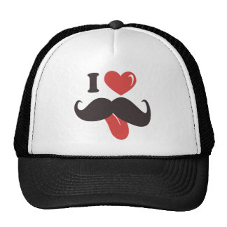 Mustache Collection Mesh Hats