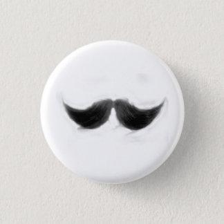 mustache cowboy 3 cm round badge
