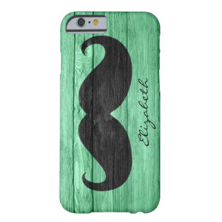 Mustache Custom Monogram #7 Barely There iPhone 6 Case
