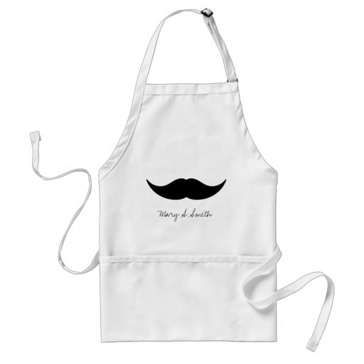 Mustache Custom Name Aprons