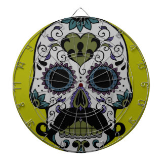 Mustache Day of the Dead Dartboard