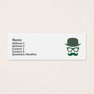 Mustache, Derby and Eye Glasses Mini Business Card