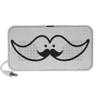 mustache design with mustache face laptop speakers