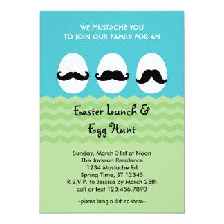Mustache Easter Eggs Invitation