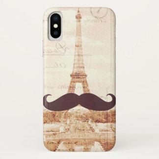 Mustache Eiffel Tower iPhone X Case