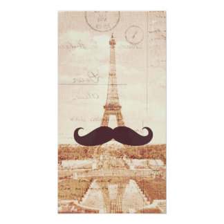 Mustache Eiffel Tower Print