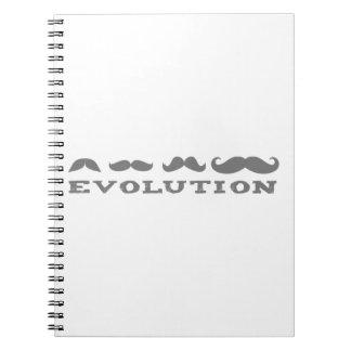 Mustache Evolution Spiral Notebook